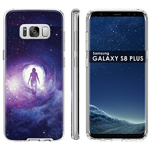 [Case86] [Clear] Gel Gummy Phone Case Galaxy S8Plus Silicone Rubber Gel Phone Cover - [Astral Space] for Samsung Galaxy S8+Plus [6.2