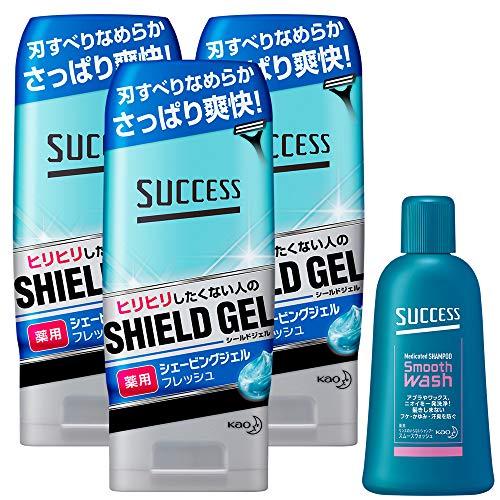 [쉐이빙]   !!대량구입 찬스!!  SUCCESSS 약용 shaving 젤 플래시 타입 180g×3 개세트 + 샘플 포함