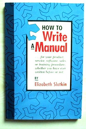 How to Write a Manual