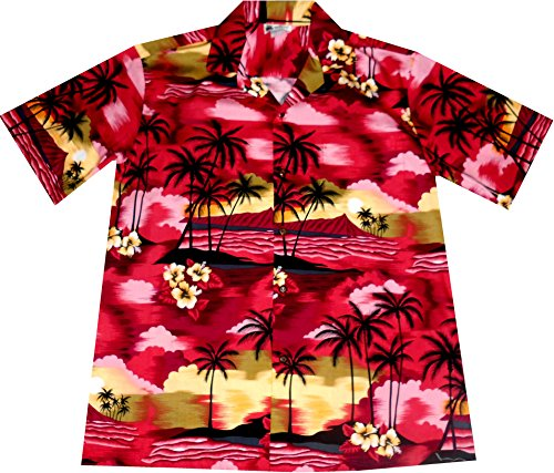 Made Hawaii 4xl In Originale Camicia taglia rossa Uomo M Hawaii BgpqxZx
