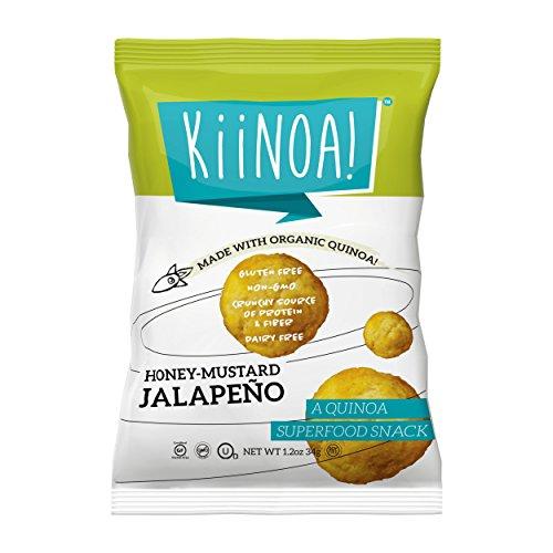 KiiNOA! Honey Mustard Jalapeno, Gluten Free, Crunchy Dairy Free Quinoa Puffs, 1.2oz., 12 Count (Puffs Honey)