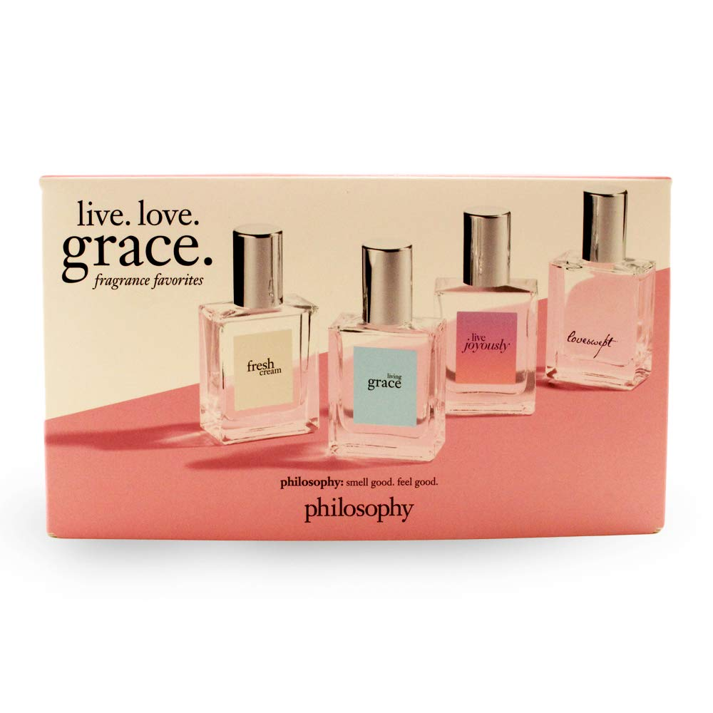 Philosophy Fragrance Favorites 4 Piece Gift Set. Fresh, Grace, Joyously & Loveswept