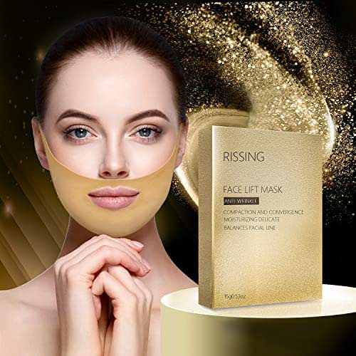 Gold Gel Collagen Face lift Double Chin Reducer Chin Up Patch V Up Contour Lifting Firming Moisturizing Mask V Shaped Slimming Face Mask