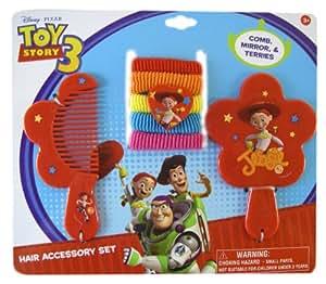 Disney Toy Story 7pc Jessie Hair Accessory Set - Jessie Vanity Set - Toy Story Hair Set
