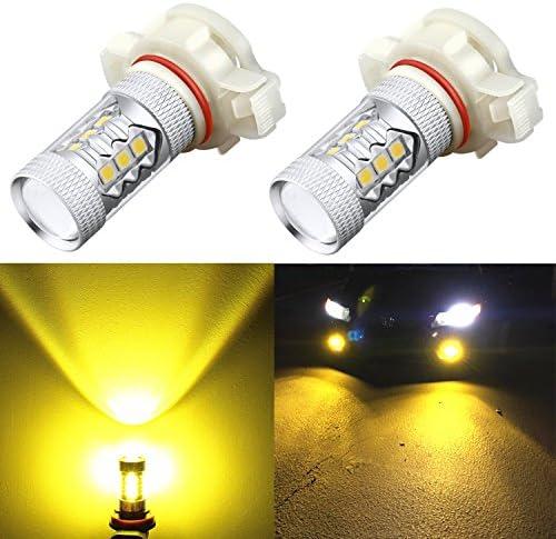 Alla Lighting 5201 5202 LED フォグライト電球 Xtreme 超高輝度 ハイパワー 3030 SMD 車 トラック PS19W 12085 PS24W 9009 DRL 交換用 3000K ゴールデンイエロー