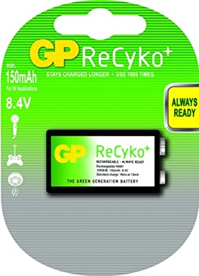 Amazon.com: GP ReCyko+ 8.4V (9V Applications) PRE-CHARGED ...
