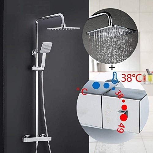 ZY-YY システムバスルームサーモスタットの蛇口ミキサータップ滝ウォールマウント恒温槽ミキサーをタップGLD1197を蛇口セットシャワーシャワー