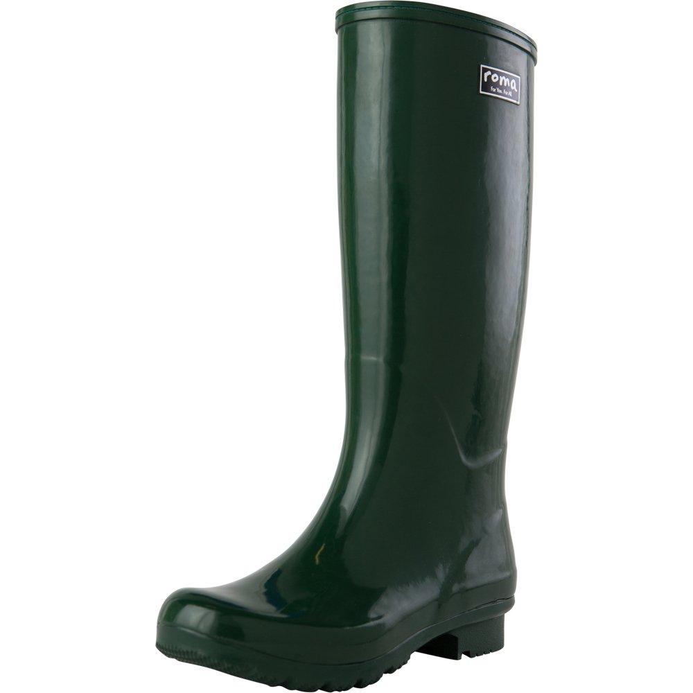 Roma Boots Women's Emma Classic Rain Boots B072LJ8QL9 7 B(M) US|Green