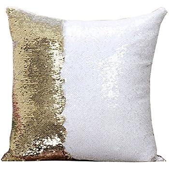 Amazon Com Reversible Sequin Mermaid Glitter Sofa Cushion