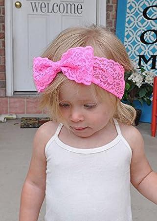 Bebé niñas niños niños 4,5 cm grandes lazos para el pelo ...