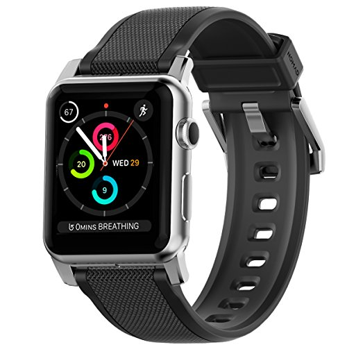 Nomad Rugged Strap for Apple Watch 44mm/42mm | Silver Hardware