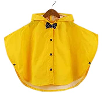 factory outlet how to get retro Children Poncho Raincoats Outerwear Baby Rain Jacket Raincoat YELLOW S
