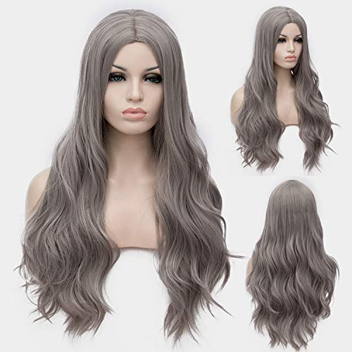 Similar Cosplay Long Wavy Full Synthetic Wigs Fluffy Hair Wig with Cap Halloween Gift,22,28inches -