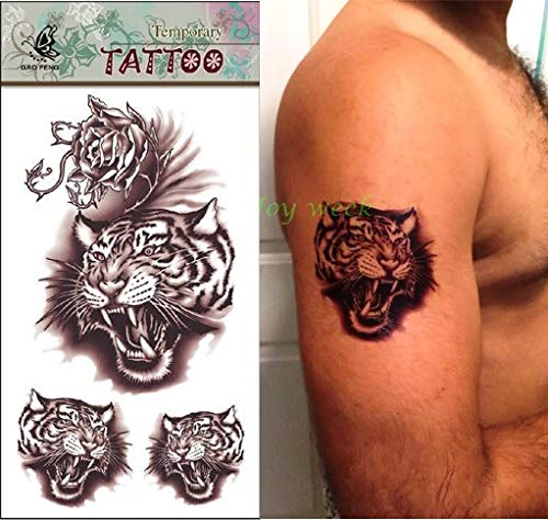 Etiqueta engomada Temporal Impermeable Wittmann Tigre Tatuaje para ...