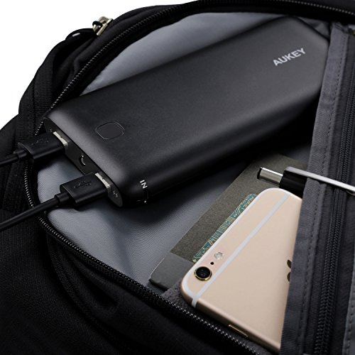 AUKEY 20000mAh portable External Battery Charger electricity Bank by methods of  AiPower technologies for iPhone X 8 Plus Samsung Galaxy Note 8 and much more Popular selections