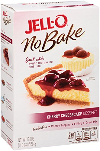 Jell-O No Bake Cheesecake Dessert, Cherry, 17.8 Ounce