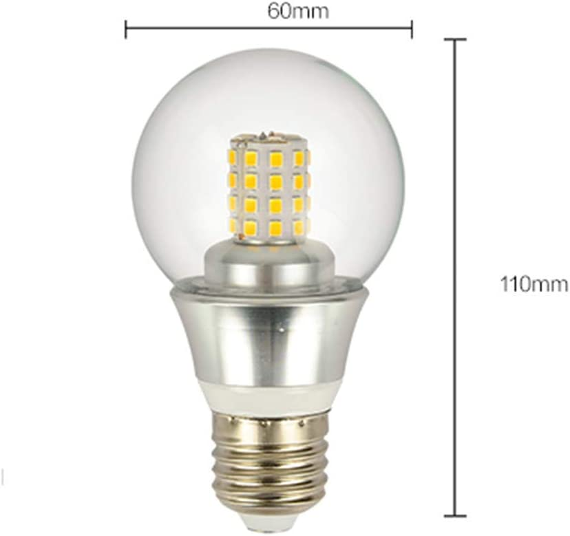 Led Transparent Glass Candle Bulb E27 Energy Saving Corn Light 361 Degree Beam Angle Suitable for Ceiling Floor Wall Lamps and Other Lighting Fixtures Chandeliers