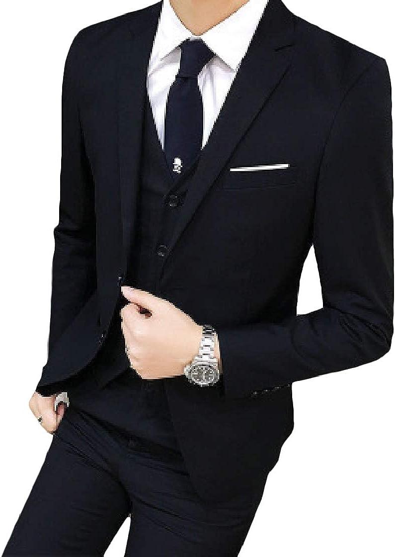 Etecredpow Mens Pants Vest 3 PCS Party Coat Suit Sets