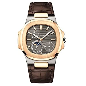 51ER9Ix6n0L. SS300  - Patek Philippe Nautilus 40mm White and Rose Gold Watch 5712GR-001