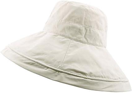 HUOLIMAO Sombreros De Sol Plegables De ala Grande para Mujer ...