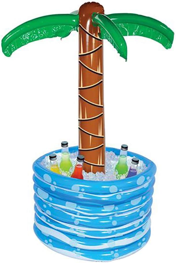 Luau Palm Tree Beverage Cooler Inflatable Decorations, Tiki Pool Parties, Beach Party, Birthday Event, Outdoor Swimming, 48