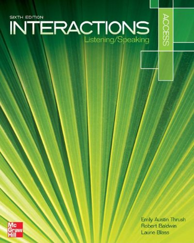 Interaction Access Listening/Speaking Student Book plus Registration Code for Connect ESL