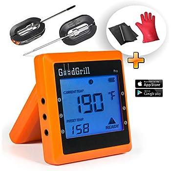 Amazon Com Bluetooth Meat Thermometer Wireless Digital