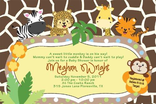 zebra baby shower invitations - 9