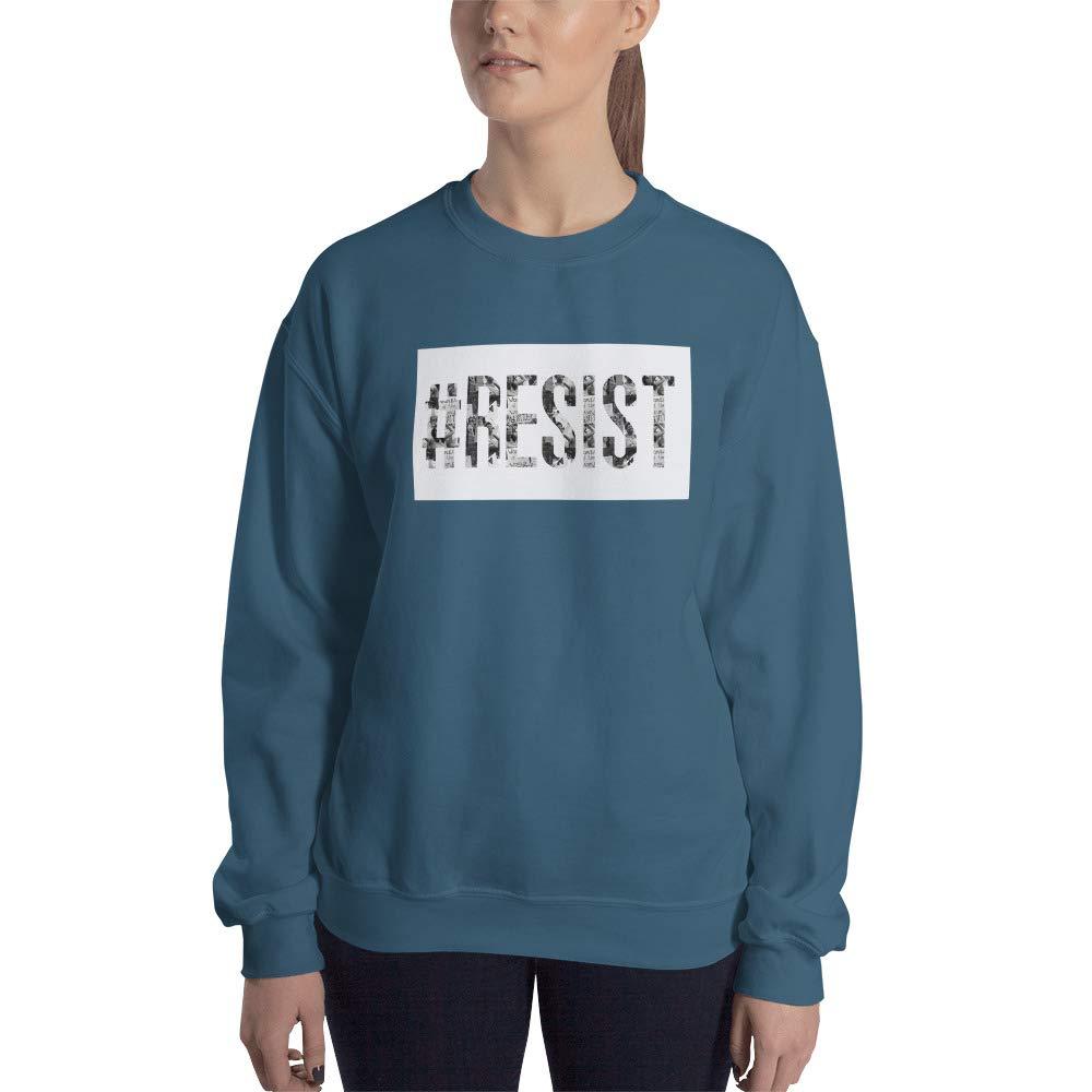 Sweatshirt Indigo Blue STFND #Resist Image Letters