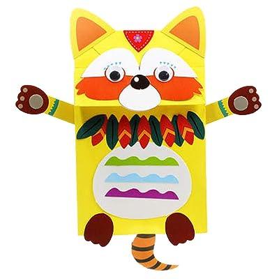 TOYANDONA Hand Puppet Craft Kit Coon Design Animal Hand Puppet Kids Art Craft Felt DIY Make Your Own Puppet for DIY Children Kids: Toys & Games