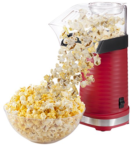 Chefman Air Pop Popcorn Maker, Makes 12 Cups of Popcorn, FREE Measuring Cup and Removable Lid, (Personalized Microwave Popcorn)