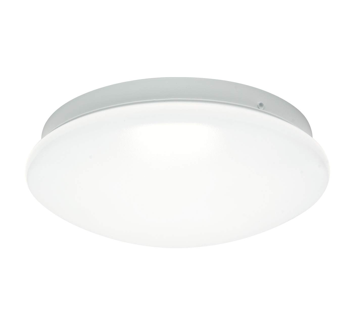 """OSTWIN 8"""" LED Puff Round Flush mount Ceiling Light MS Series 12W (75 Watt eq.), Dimmable, 5000K (Daylight), 900 Lumens, White Finish with Acrylic white shade, ETL and ENERGY STAR listed"""