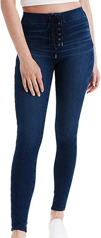 Amazon Com American Eagle 03203627 360 Next Level 936 Pantalones Vaqueros Elasticos Para Mujer Talla M Color Azul Clothing