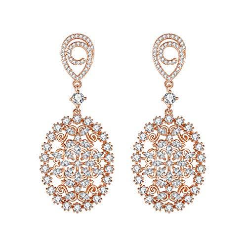 mecresh Cubic Zirconia Chandelier Earrings Dangle Drop Earrings for Girls Women Engagement Daily