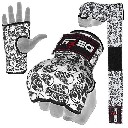 DEFY Gel Padded Premium Inner Gloves with Hand Wraps MMA Muay Thai Boxing Training Fight PAIR