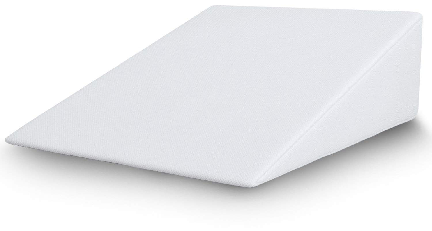 BalanceFrom Wedge Foam Wedge Bed Support Pillow with Memory Foam Top & Removable Cover (25'' x 24'' x 7'')