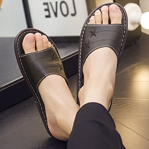 interior slippers home floor couples Slippers women home and 41 summer 42 fankou black slip and men anti Deodorization qBSw76Y