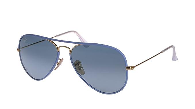 Gafas de sol para mujer Rayban azul RB 3025 JM Aviator Full ...