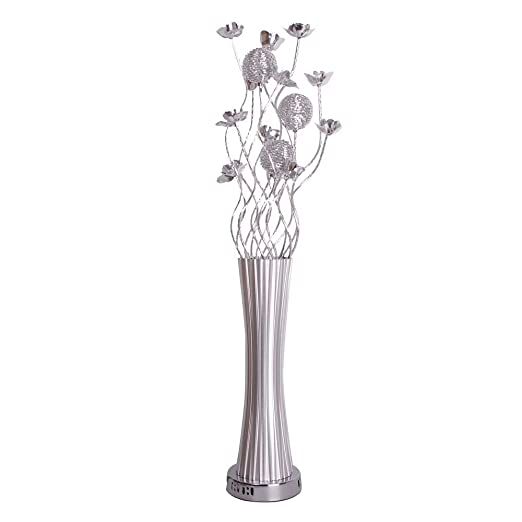 Modern Silver Aluminium Metal Vase Flowers Design Floor Lamp Amazon