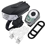 Cheap PAGAO USB Rechargeable LED Bike Light Set,Super Bright Front Headlight and Rear LED Bicycle Light,400 Lumens Sensor Motion Headlight,Waterproof Cycling Flashlight