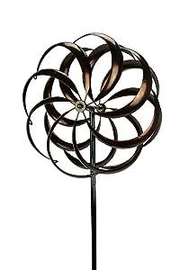 Upper Deck, LTD Aged Copper Finish Garden Twirler Kinetic Wind Spinner Stake
