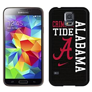 Durable Galaxy S5 Case,DIY I9600 Case Design with Alabama Crimson Tide Samsung Galaxy S5 SV I9600 Phone Case in Black