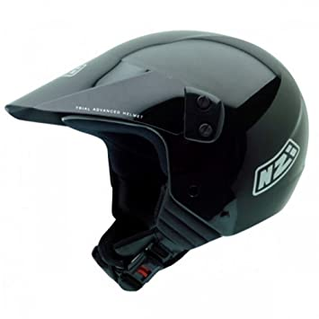 NZI 050131G003 Indoor Black Casco de Moto, Color Negro, Talla 54 (XS)