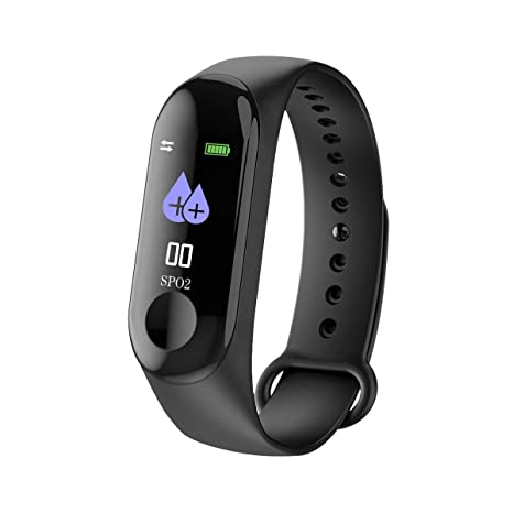 Reloj inteligente M3 con Bluetooth, monitor de frecuencia cardíaca, contador de pasos, monitor