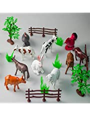 Farm Animals Toy For Children With Fence and Trees