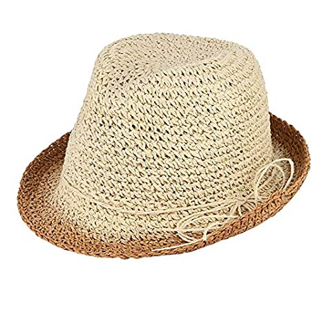 b3957e89bc7655 Image Unavailable. Image not available for. Color: ALWLj Handmade Crochet  Pure Straw Hats Men ...