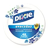 Dixie Heavy Duty Paper Plates, 48 Count, 6.875 Inch