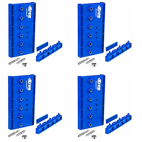 Kreg KMA3200 Hardened Steel Shelf Pin Hole Drilling Jig, 4-Pack by Kreg (Image #1)