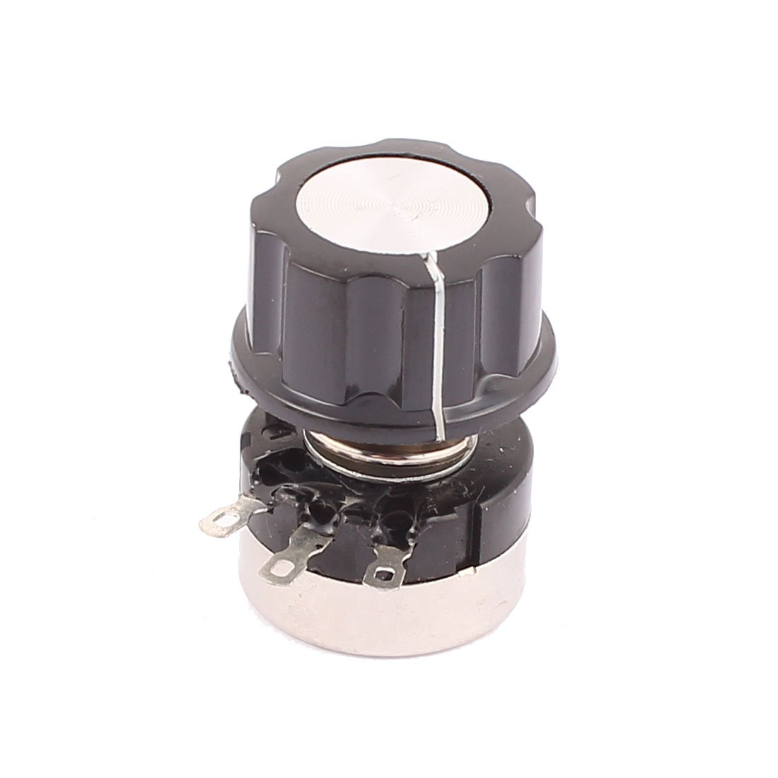 uxcell 3 Pin B502 Rotary Wirewound Potentiometer 5K Ohm Adjustable Resistance