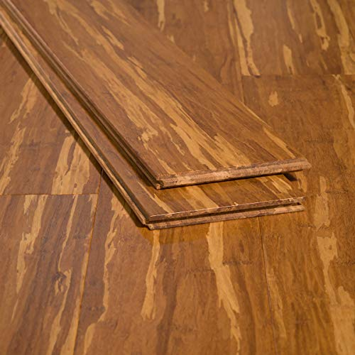 boo Flooring Sample, Color: Tiger, Solid Strand Tongue and Groove ()
